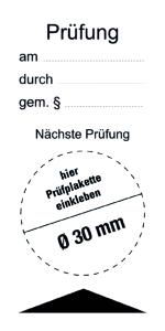Test / Next Test - Foil Self-adhesive - 80 x 40 mm