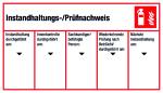 Maintenance / test certificate five-column