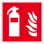 Brandbeveiligingsmerk - Brandblu ... fklevend, langdurig - 20 x 20 cm