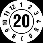 Jahresprüfplakette 2020 | JP320 | Wunschfarbe