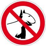 Verbotszeichen - Kampfhunde verboten