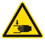 Warnzeichen - Warnung vor Handverletzungen
