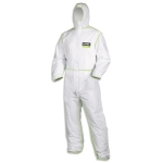 Overall 5/6 comfort 9877, weiß/lime M