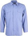 Flammschutzhemd, blau-melange