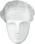 Baretthaube, Polypropylen, Schirm, weiß