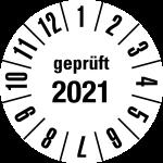 Jahresprüfplakette 2021 | JP621 | Wunschfarbe