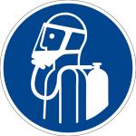 Gebotszeichen - Umgebungsluftunabhängigen Atemschutz benutzen