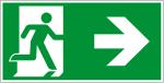 Fluchtwegzeichen - Rettungsweg rechts (E002-1)