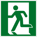 Fluchtwegzeichen - Rettungsweg links (E001)