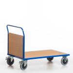 Stirnwandwagen,Tragl. 600kg,Ladefl. LxB 1000x600mm,Holzplatte,1 Wand
