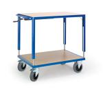 Tischwagen,Tragl. 400kg,2 Etagen ... xB 1090x700mm,Holzböden,RAL5010