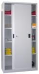 Schiebetürenschrank,HxBxT 1950x ... Stahlboden,RAL6011,Front RAL2004
