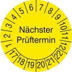Prüfplakette,Nächster Prüftermin,D 20mm,Prüfzeitraum 20-25