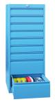 Schubladenschrank,HxBxT 1200x500 ... Schubladen,RAL7035,Front RAL5012