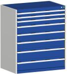 Schubladenschrank,HxBxT 1200x105 ... eckel-,Boden-,Frontfarbe RAL7035