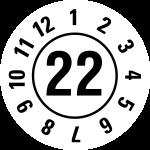 Jahresprüfplakette 2022 | JP322 | Wunschfarbe