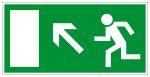 Fluchtwegschild - Rettungsweg links aufwärts