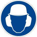 Gebotszeichen - Gehör- und Kopfschutz benutzen