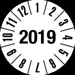 Jahresprüfplakette 2019 | JP10 | Wunschfarbe